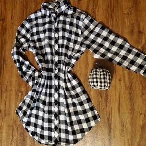 Dresses & Skirts - Buffalo Check black & white dress w pockets